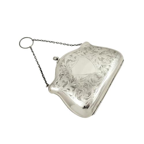 Antique Sterling Silver Purse 1917 (1 of 9)