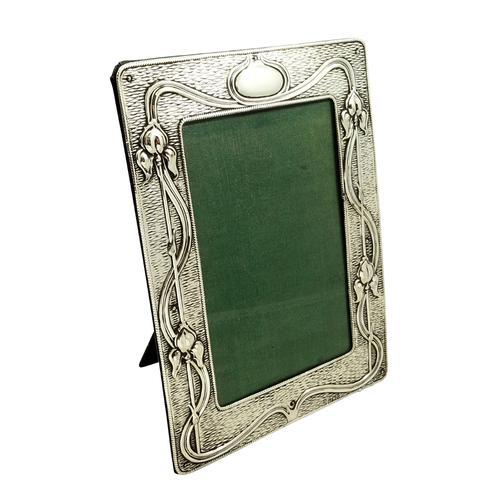 Antique Art Nouveau Sterling Silver Photo Frame 1904 (1 of 9)