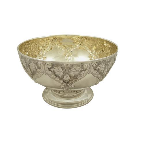 "Antique Edwardian Sterling Silver 8 1/2"" Bowl 1904 (1 of 9)"