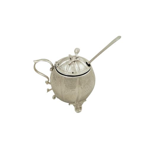 Antique Victorian Sterling Silver Mustard 1855 (1 of 7)
