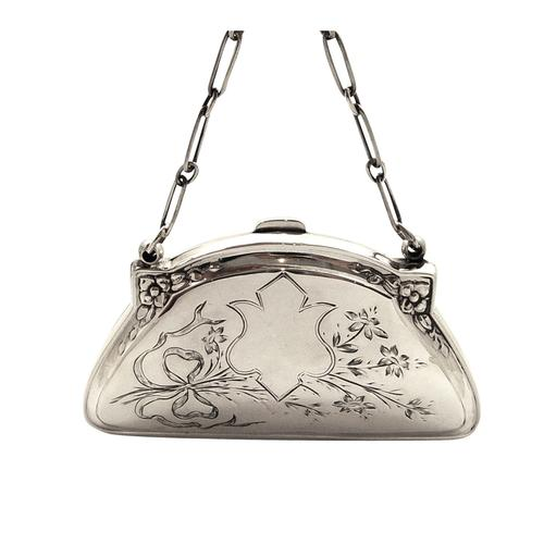 Antique Sterling Silver Purse 1917 (1 of 10)