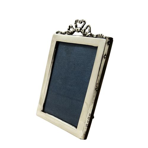 Antique Sterling Silver 'Bow / Ribbon' Photo Frame 1917 (1 of 7)
