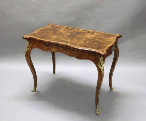 Victorian Burr Walnut Occasional Table Attributed To Gillows (1 of 8)