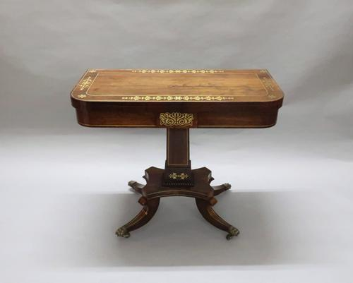 Regency Rosewood Games Occasional Table attributed to John Mclean (1 of 9)