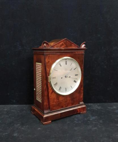 George IV Mahogany Bracket Clock by Hampson & Son (1 of 9)