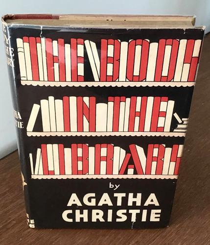 1942 the Body in the Library by Agatha Christie, Rare 1st Edition + Original Dust Jacket (1 of 8)