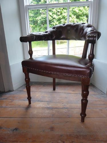 19th Century Leather Desk Chair (1 of 5)