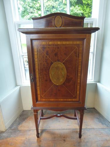 Fine Quality Inlaid Music Cabinet (1 of 8)