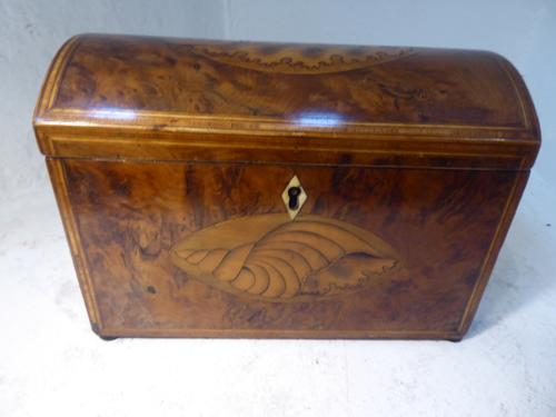 18th Century Yew Wood Tea Caddy (1 of 8)
