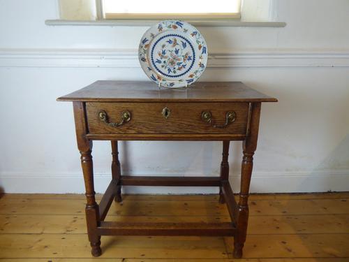 18th Century Oak Side Table (1 of 8)