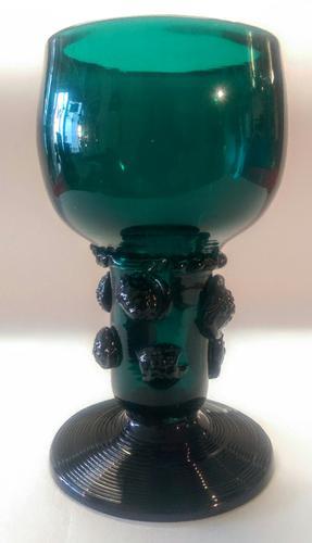 Rhenish Green Hollow Stem Wine Glass c.1795 (1 of 4)