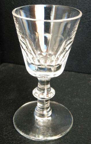 Victorian Facet Cut Liqueur Glass c.1860 (1 of 4)