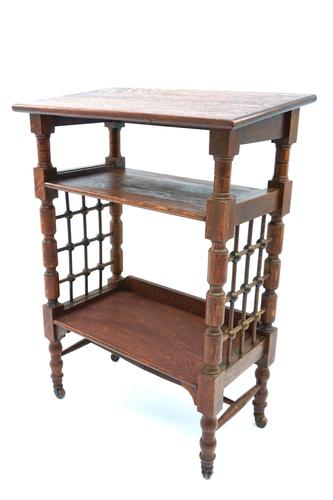 Arts and Crafts Oak Reading Table by Leonard Wyburd For Liberty and Co. (C1900) (1 of 7)