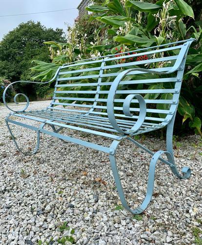 Victorian Wrought Iron Garden Bench (1 of 7)