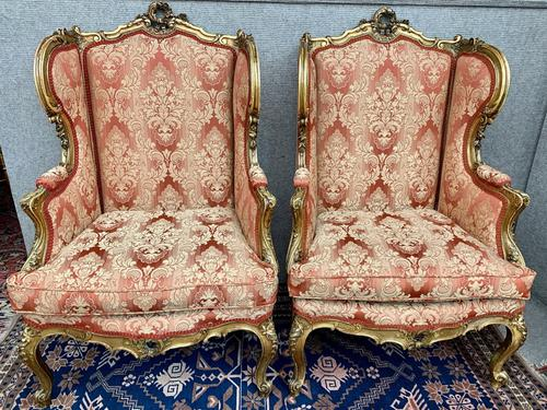 Pair of Louis XVI Gilded Armchairs c.1850 (1 of 17)