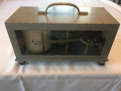 Barograph & Thermograph Combined Instrument by Negretti & Zambra c.1955 England (1 of 9)