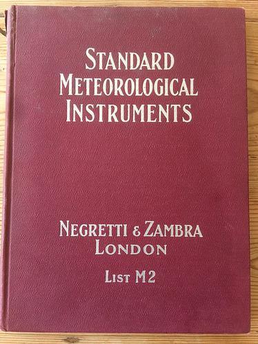 Negretti & Zambra London Standard Meteorological Instruments c.1930 (1 of 1)