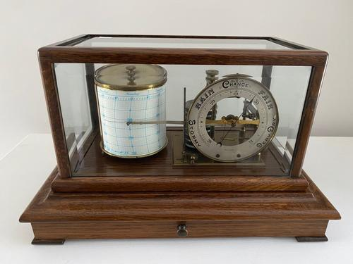 Oak Barograph with Dial c.1925 (1 of 3)