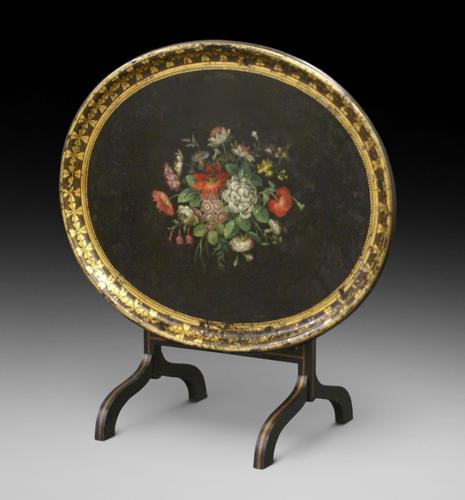 Regency Papier Mache Tray on Stand (1 of 6)