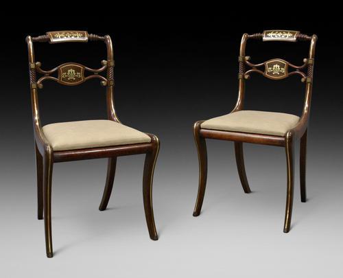 Superb Pair of Regency Side Chairs (1 of 6)