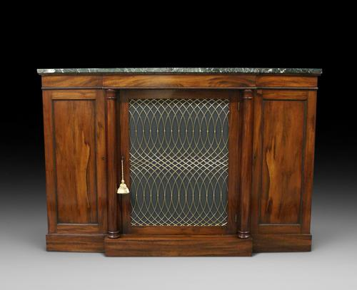 William IV Goncalo Alves Break Front Cabinet (1 of 6)