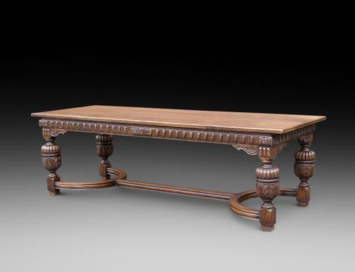 Elizabethan Style Oak Refectory Table c.1900 (1 of 3)