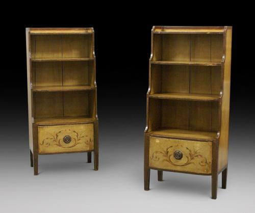 Rare Pair of 19th Century Scandinavian Painted Bookcases (1 of 6)