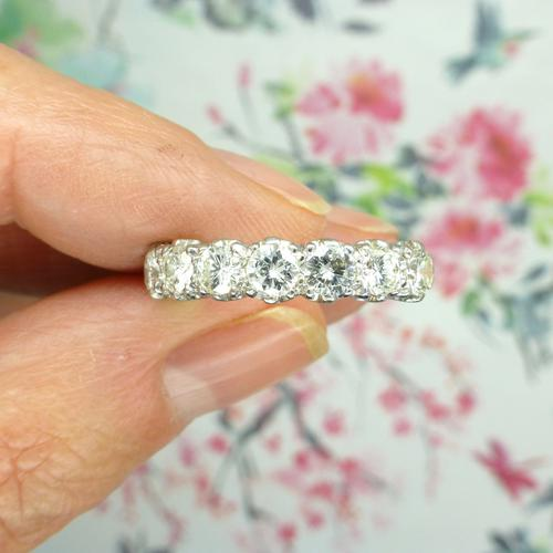 Vintage 18ct White Gold Seven Stone Diamond Eternity / Wedding Band 1.20 Carat ~ with Independent Valuation (1 of 12)
