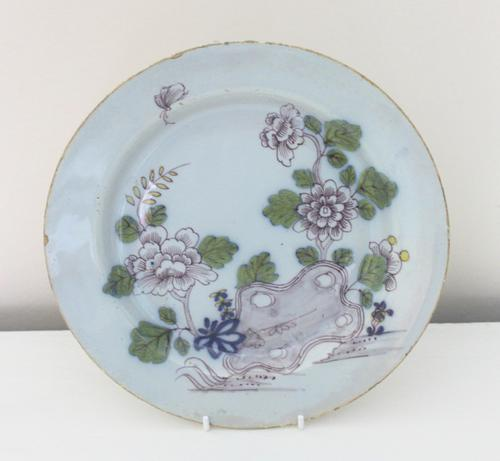 Liverpool Delftware Plate c.1760 (1 of 2)