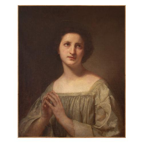 19th Century French School Portrait of a Female Saint at Prayer (1 of 9)