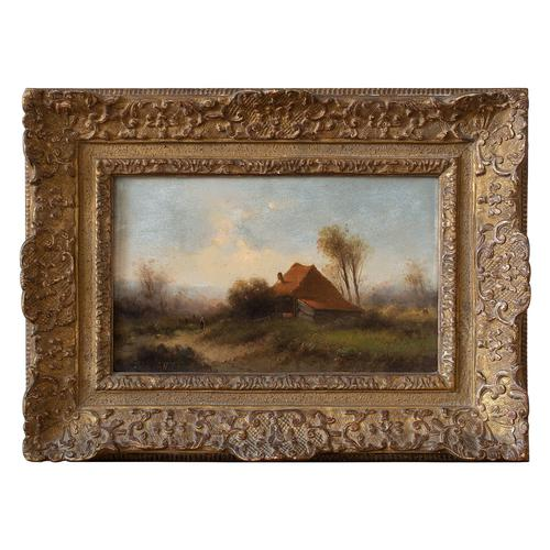 Attr. Cornelis I Westerbeek, Dutch Landscape with Track, Figure & Dwelling (1 of 11)