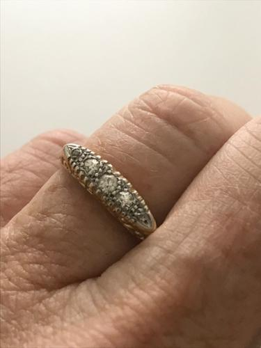 Late Victorian 18ct and Platinum Diamond Ring. (1 of 8)