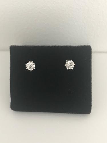 18 ct Old Cut Diamond Earrings. (1 of 5)