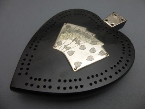 Victorian Silver Mounted Cribbage Board (1 of 7)