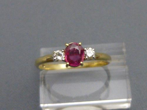 18ct Gold Ruby & Diamond Ring (1 of 5)