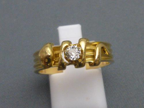 Victorian 18ct Gold & Diamond Snake Ring (1 of 6)