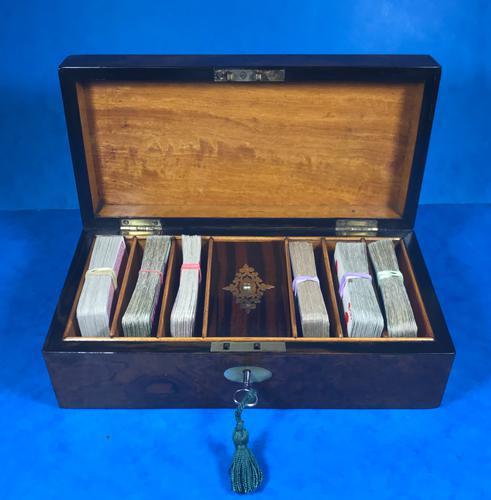 Victorian Burr Walnut Games Box (1 of 16)