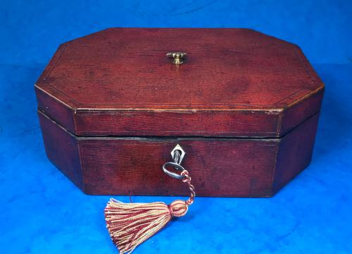 Regency Morocco Leather Sewing Box (1 of 15)