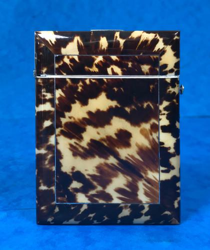 Victorian  Tortoiseshell Card Case with Pewter Inlay (1 of 8)
