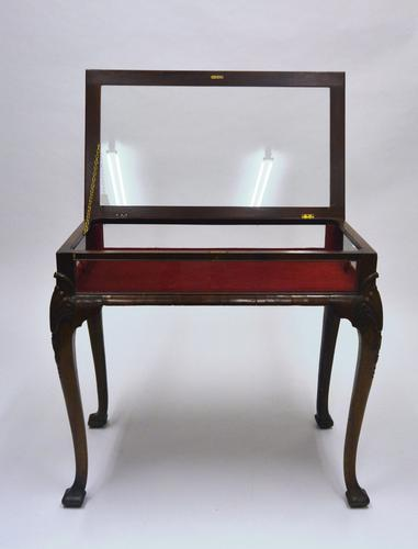 Walnut Display Cabinet c.1920 (1 of 6)