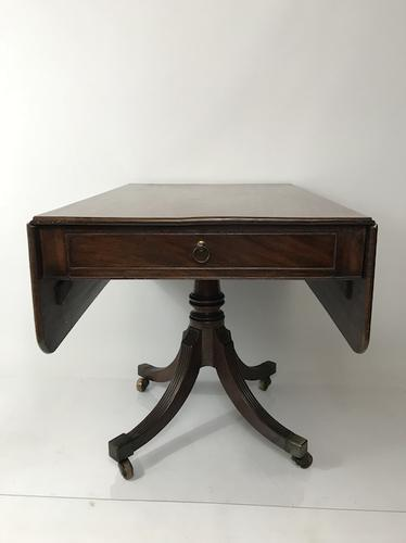 Georgian Mahogany Dining / Supper Table with Swept Reeded Legs (1 of 7)