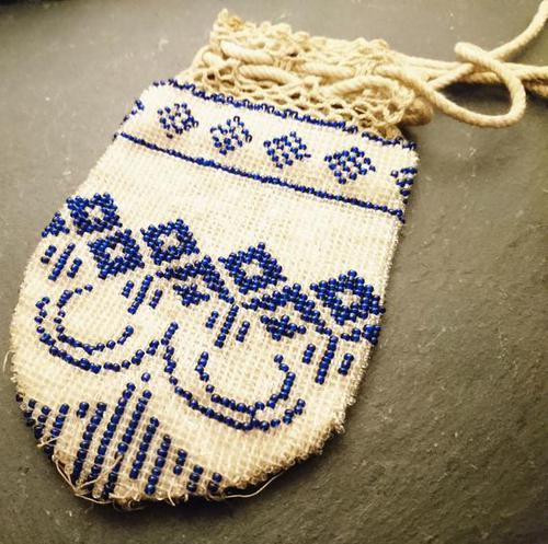 Antique Georgian Beadwork, Reticule Purse, Coin Pouch (1 of 6)