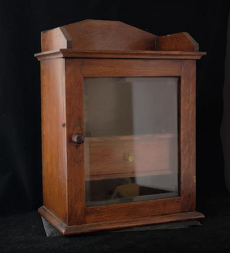 Antique Early Victorian Oak Smokers Cabinet (1 of 14)