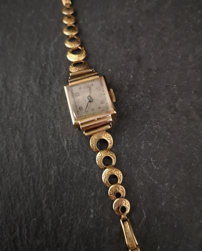 Vintage Art Deco 18ct Gold Ladies Wristwatch (1 of 12)