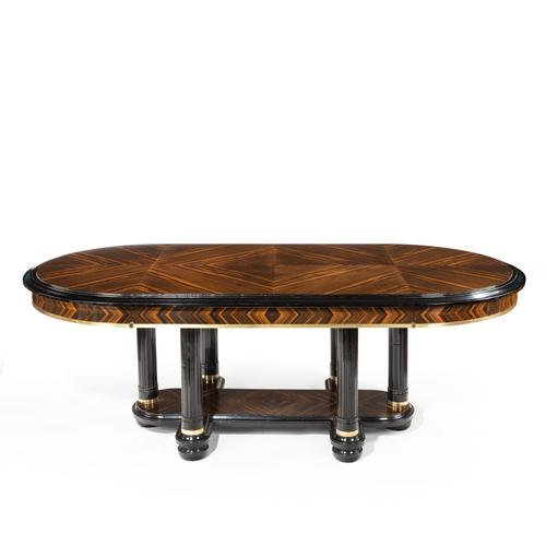 Stylish Art Deco Zebra Wood Centre or Dining Table (1 of 10)