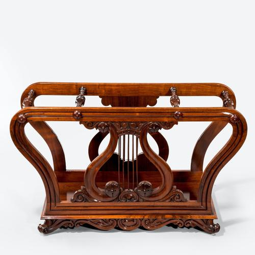 Unusual Late Regency Rosewood Music Roll Holder (1 of 3)