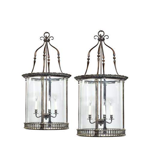 Pair of 20th Century Brass Hanging Lanterns in the Style of Lutyens (1 of 6)