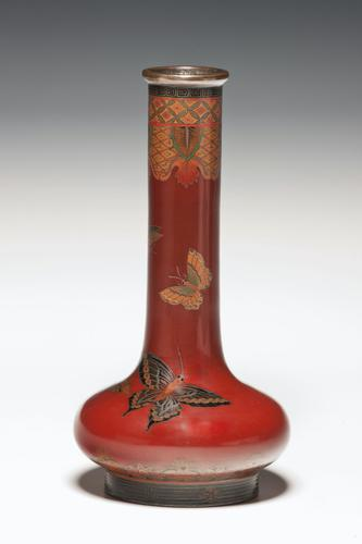 Japanese Cloisonné Enamel Vase in the Style of Namikawa Yasuyuki (1 of 1)