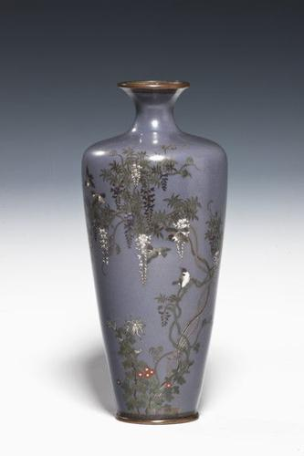 Japanese Cloisonné Vase Meiji Period (1 of 1)