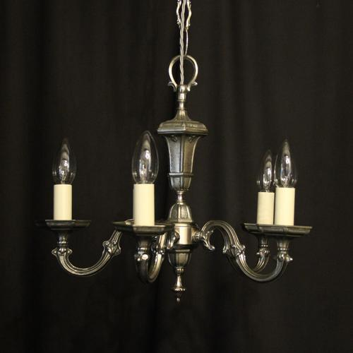 French Silver Gilded 5 Light Chandelier (1 of 10)